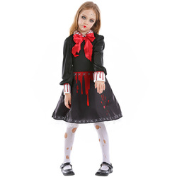 Umorden Purim 할로윈 무서운 의상 성인 키즈 어린이 피 묻은 좀비 유령 인형 의상 코스프레 여자 여자 고딕 드레스