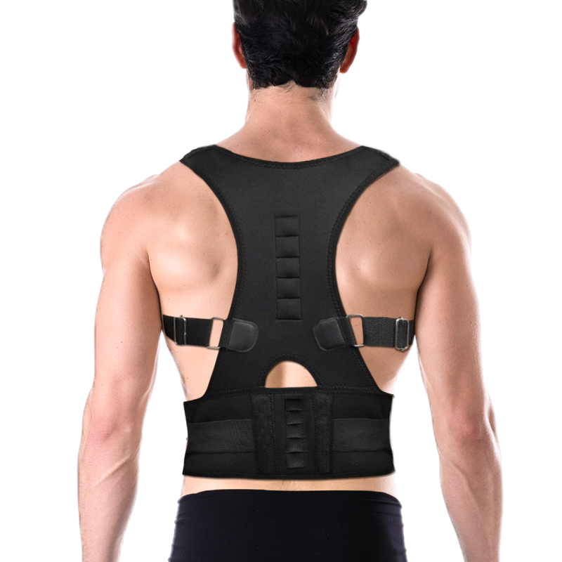 Dropshipping Magnetic Therapy Posture Corrector Brace Shoulder Back Support Belt for Women Braces Supports Belt Shoulder Posture