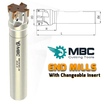 END MILL  APKT 1003  Stock Code 45 ISO  EM90 D25 W25 L200 Z03