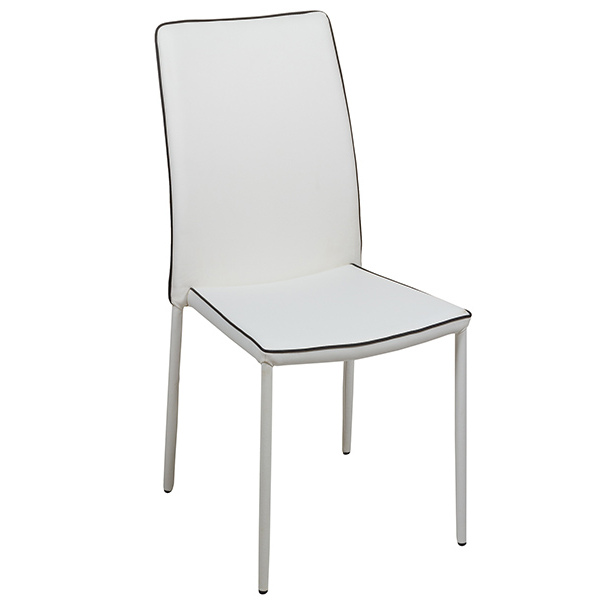 Dining Chair Pvc Metal White (44 X 42 X 96 Cm)