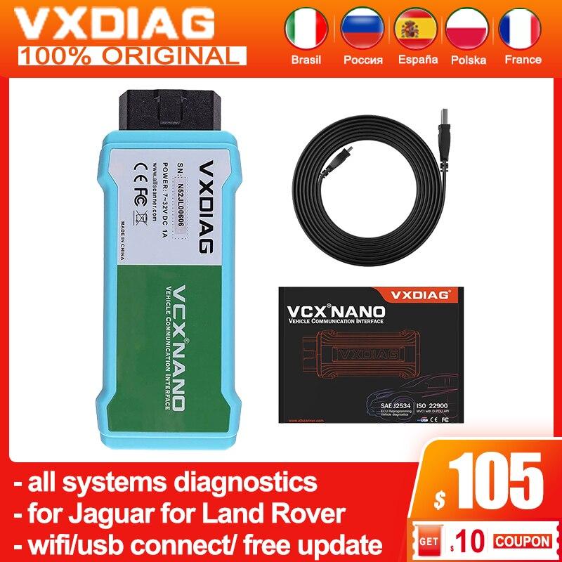 Диагностические инструменты для всех систем VXDIAG для JLR SDD obd2, сканер кодов, программирование VCX NANO для Jaguar V159 для Land Rover, бесплатное обновление