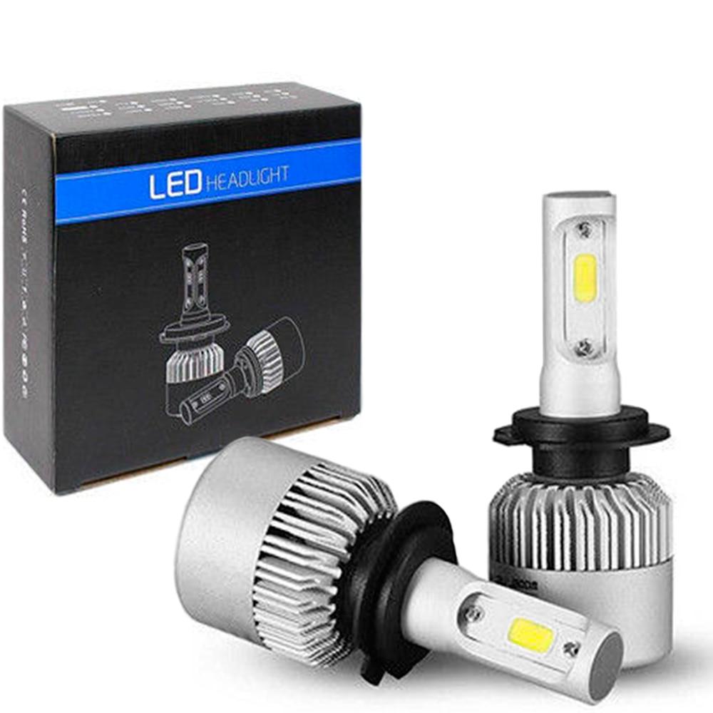 OcioDual 2x лампы S2 H7 светодиодный COB 72 Вт 8000лм 6500 к для автомобильных фар белый Frio S2H7 Лампа Комплект автомобильная лампа замена
