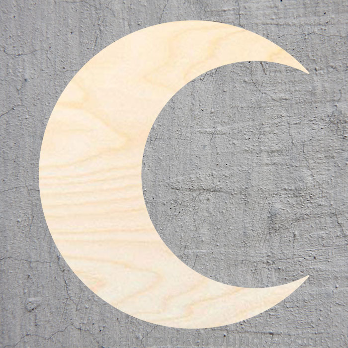Crescent Moon  Silhouette Laser Cut Out Wood Shape Craft Supply Unfinished Cut Art Projects Craft Decoration Gift Decoupage Orna
