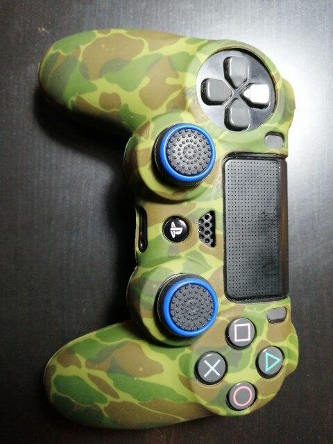 Funda con agarre de Silicona para Sony PS4, Playstation 4, Camuflaje Verde