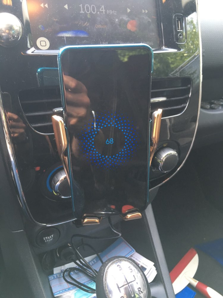 WIRELESS AUTOMATIC SENSOR CAR PHONE HOLDER AND CHARGER photo review