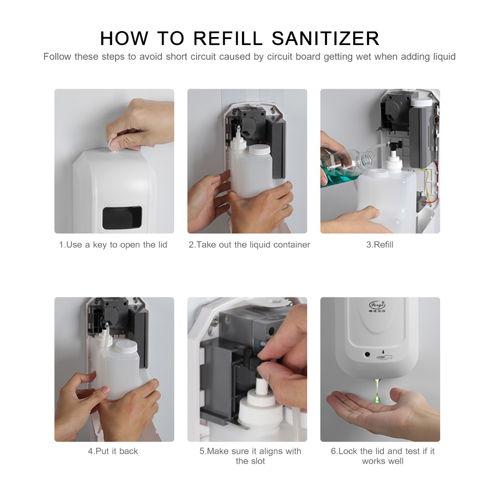 U2c878aa0f41d47ca8ab1eb4328574665q Hand Sanitizer Touchless Dispenser 1000 mL Sensor Touch Free Hand Sanitizer Dispenser Alcohol Mist Spray Machine