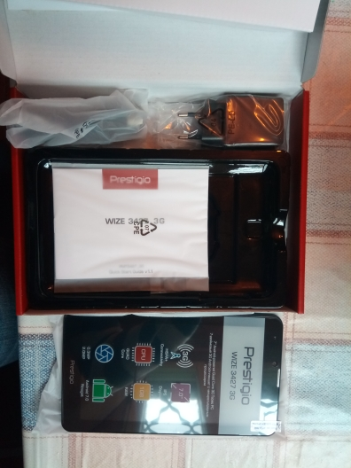 Планшет PRESTIGIO Wize 3427 3G, Dual SIM, 3G, 7''(1024х600), Android 7.0, 1GB DDR, 8GB Flash, 2500mAh battery, Dark Gray