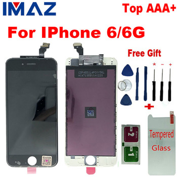 IMAZ IPS Top AAA No Dead Pixel For IPhone 6 6G LCD 4.7 inch ecran Screen Display Replacement Lens Pantalla 6G A1549 A1586 LCD image