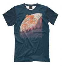 Males's T-shirt mountain bike