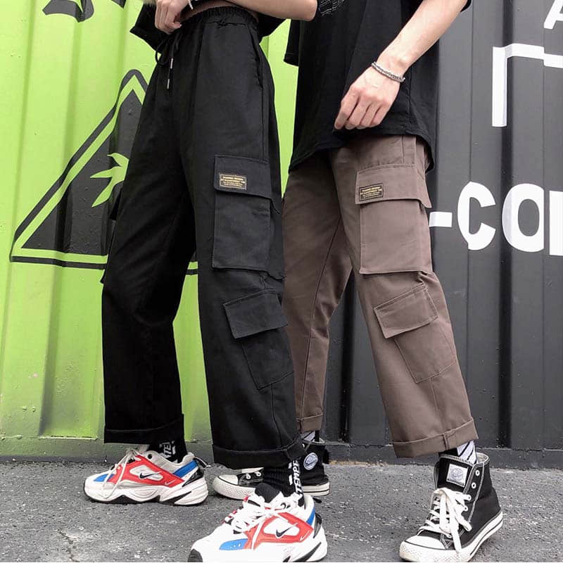 NiceMix Fashion Oversized Harem Cargo Pants For Men And Women Trousers Casual Wide Loose Baggy Hip Hop Streetwear Jogges Pants