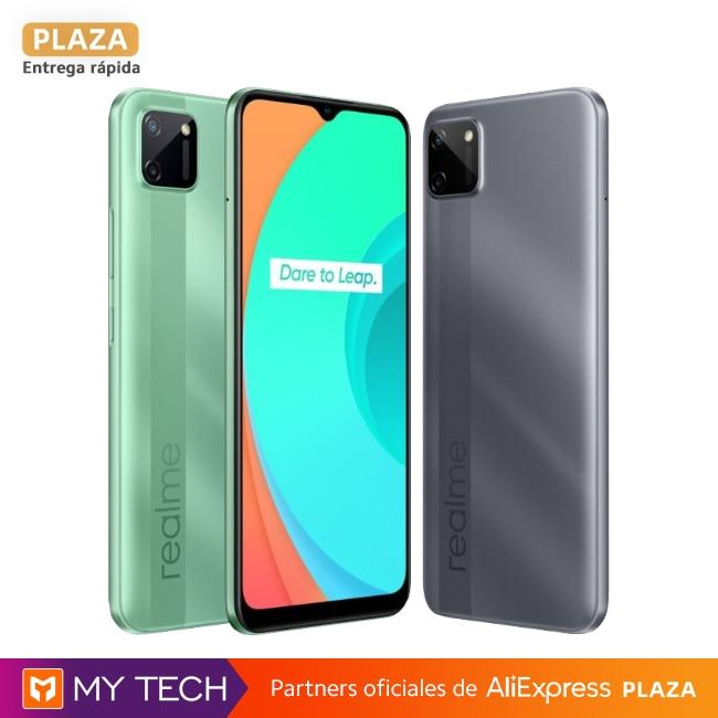 """Smartphone realme C11, 2GB+32GB, teléfono móvil original, envío España, Plaza, 2 años de garantía, 6,52"""""""