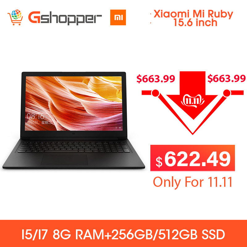 2019 Xiaomi Mi Ruby 15.6 Inch Laptop Notebook Windows 10 Intel Core I5/I7 Quad Core 8GB RAM 256/512GB SSD Notebook