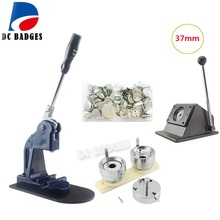 Classical 37mm Badge Making Machine+ 37mm Metal Paper Cutter+ 500 Plastic Blank Badge Buttons