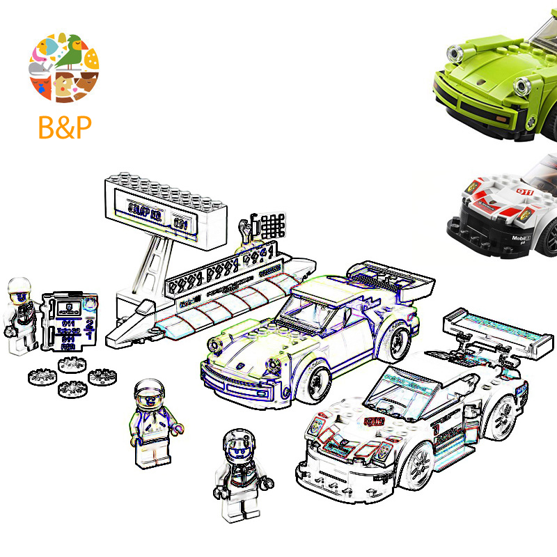 <font><b>75888</b></font> 409pcs Speed Rally Champions Super Racing Car Sportsca Educational DiyToy For Children 10946Building Block Gift image