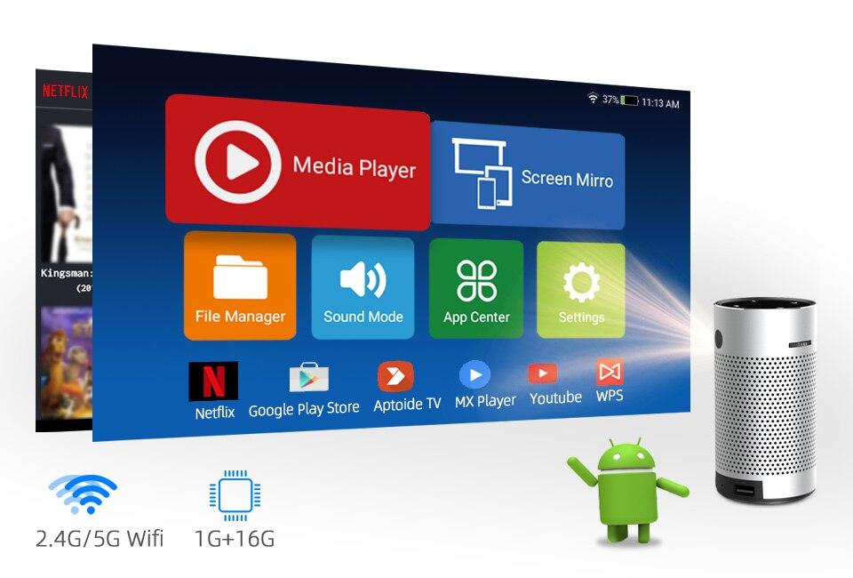 U2ca62370fd754a008246c6e17c33f9d4M - モバイルプロジェクター android ポケット ポータブル Wifi 1080P 4K TV ミニLEDホームシアター 電話 DLP S204001170613738