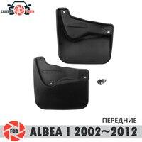 Palas carro para Fiat Albea 2002 ~ 2012 mudflaps respingo guardas mud flap mudguards fender acessórios do carro da frente