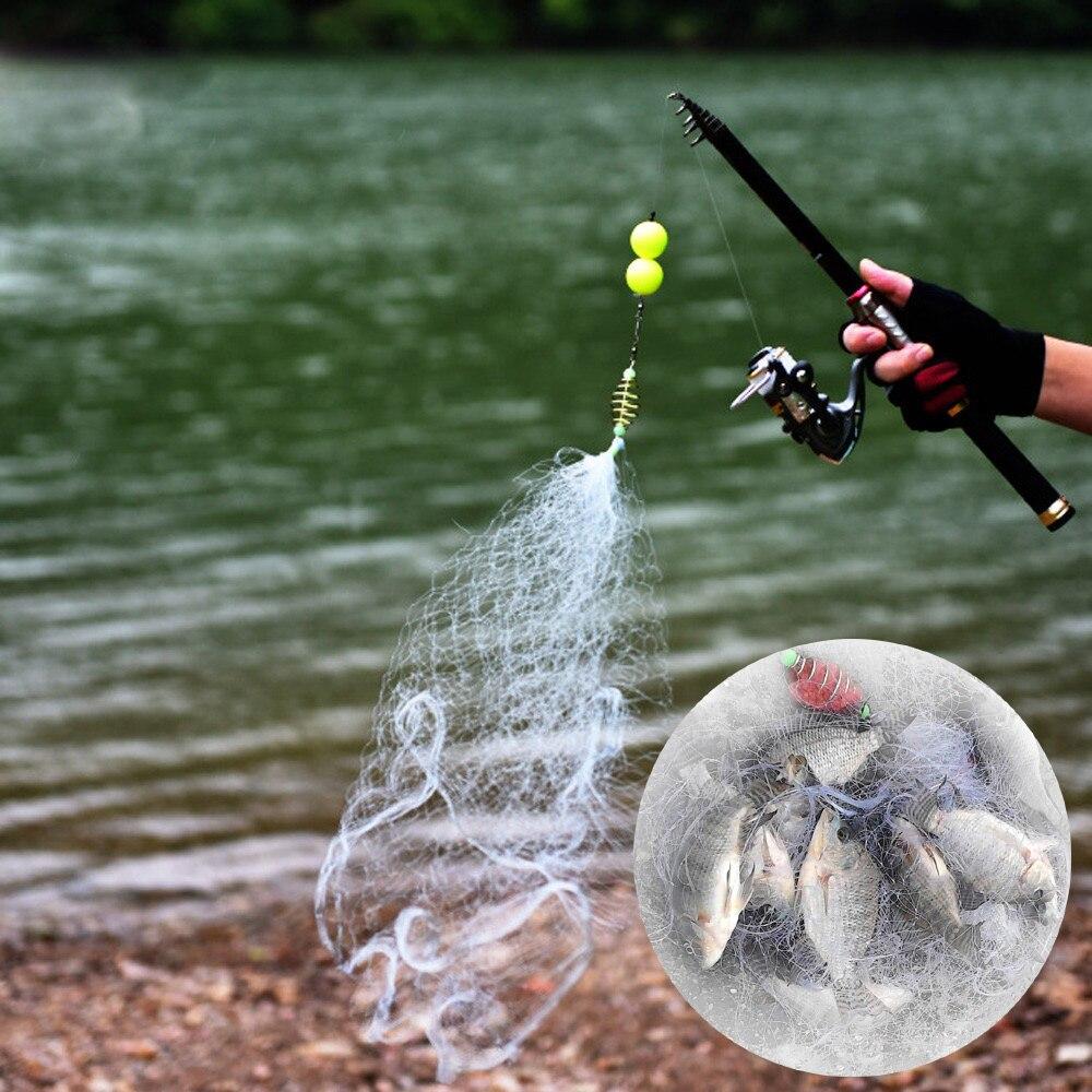 Купить портативная рыболовная сеть ловушка клетка литая ловца рыбы