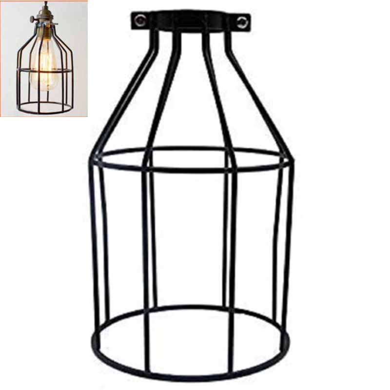Supmart Metal Bulb Guard Clamp On Steel Lamp Cage For Hanging Pendant Lights Cage Lampshade Home Cafe Shop DIY Light Cover