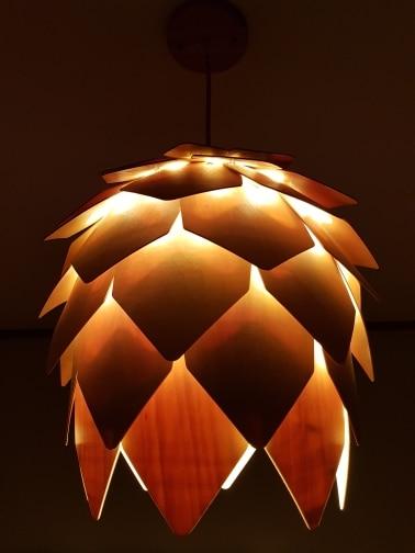Luzes de pendentes Modernas Madeira Enigma