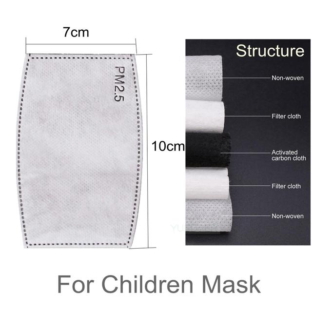 Kids Children Mask Respirator Protective Face Mask With Filter Valve Cartoon Mouth Mask Girl Boy Child Carton Tiger Valve 5