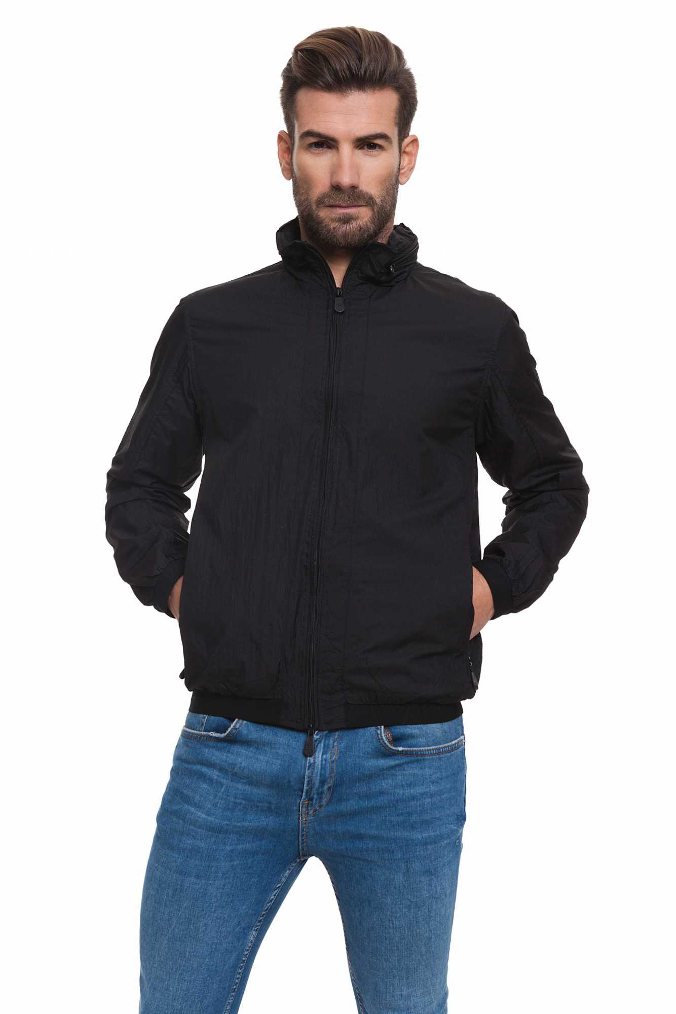 Born Rich Jacket For Men Brazier With Hoodie And Black Color Zipper Length Causal BR2K111095AA2BRC-2