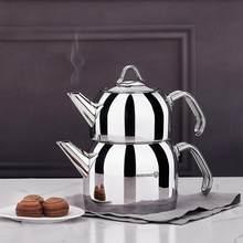 Korkmaz Provita kapsüllü türk çayı demliği seti ergonomik saplı, lehçe, 0.7 & 1.5 Quart ücretsiz SHİPPİNG
