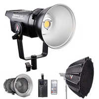 Aputure ¿C120d 120D II luz 180W LED continuo montaje en V Luz de vídeo + Fresnel montaje 2x + luz cúpula II estudio luz LED