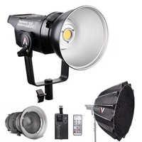 Aputure LS C120d 120D II Daylight 180W LED Continuous V-Mount Video Light + Fresnel mount 2x + Light Dome II Studio LED Light