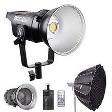 Aputure ls c120d 120d ii luz diurna, 180w led contínuo v mount lâmpada de vídeo + suporte de fresnel 2x + luz de led para estúdio