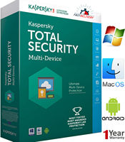 KASPERSKY TOTAL Security 1 Device / 1 Year / Win-Mac-Android Security Antivirus Key