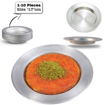 цена на Kunefe Plate -famous Presentation Tray-dish dessert serving plates Hatay antakya kunefe original high quality aluminum plate