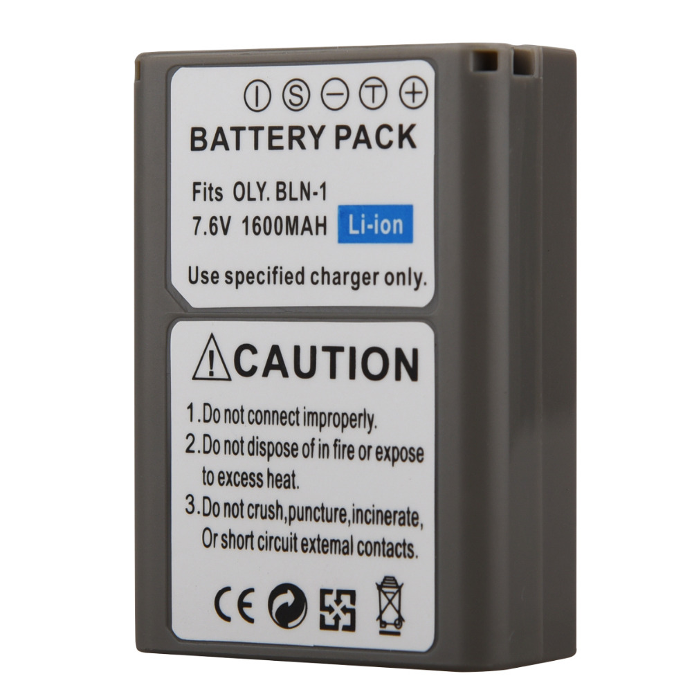 PS-BLN1 Digital Camera Battery (1600mAh, 7.6V, Lithium-Ion)-Compatible with Olympus PS-BLN1 BLN-1 E-M5 EM5 OMD OM-D Battery image