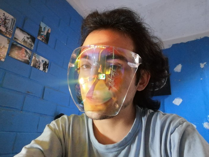 Unisex Faceshield Protective Goggles Glass photo review