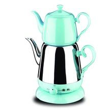 Korkmaz, A339-03, синий чай, машина, Турецкий электрический чайник, чайник, машина, самовари, турецкий чайник, чайная урна