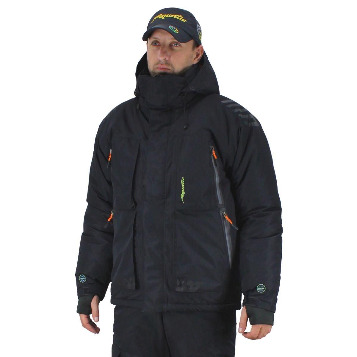 Winter Jacket Aquatic кк-14ч, Black кк-14ч 54-56