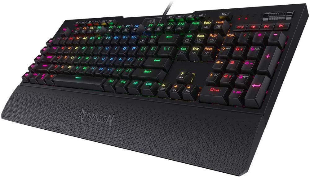 Redragon K586-PRO Brahma RGB Mechanical Gaming Keyboard, With Tactile & Light-Speed Optical Blue Switches, 10 Extra Macro Keys