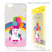 FunnyTech®Silicone Case for Samsung Galaxy A5 (2016) L big Unicorn transparent