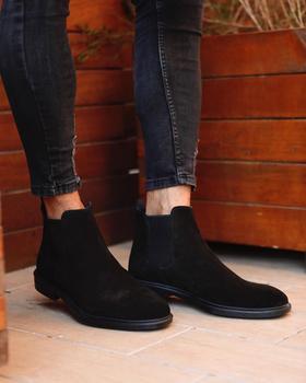 Męskie buty na co dzień czarne zamszowe buty męskie buty lekkie wygodne buty do chodzenia zamszowe buty męskie skórzane zamszowe męskie buty na co dzień tanie i dobre opinie DueFratelli Chelsea Buty TR (pochodzenie) Krowa Zamszu Dla dorosłych Prawdziwej skóry Skóra bydlęca CHELSEA CLASSİC BLACK SUEDE