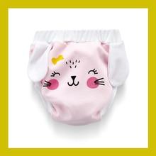 Training Pants Reusable Potty Underwear Toilet Cloth Diaper Washable Unisex Baby Kids Pullups Blue Pink White Cartoon