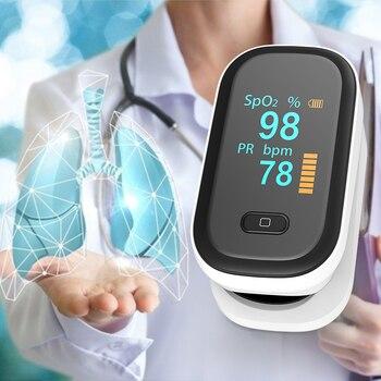 OLED finger oximeter blood oxygen spo2 pulse oximeter PR fingertip Portable oximeters Saturation Meter heart rate monitor