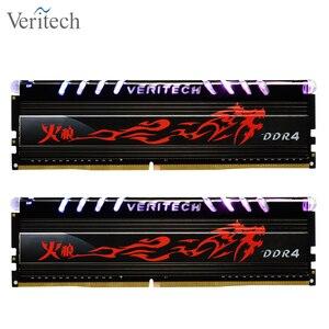 Veritech Firewolf ddr4 8GB 3000MHz RGB DIMM 16GB 2666MHz 3200mhz 3600mhz 32gb pc4 Gamin ram, placa base de soporte de memoria de escritorio