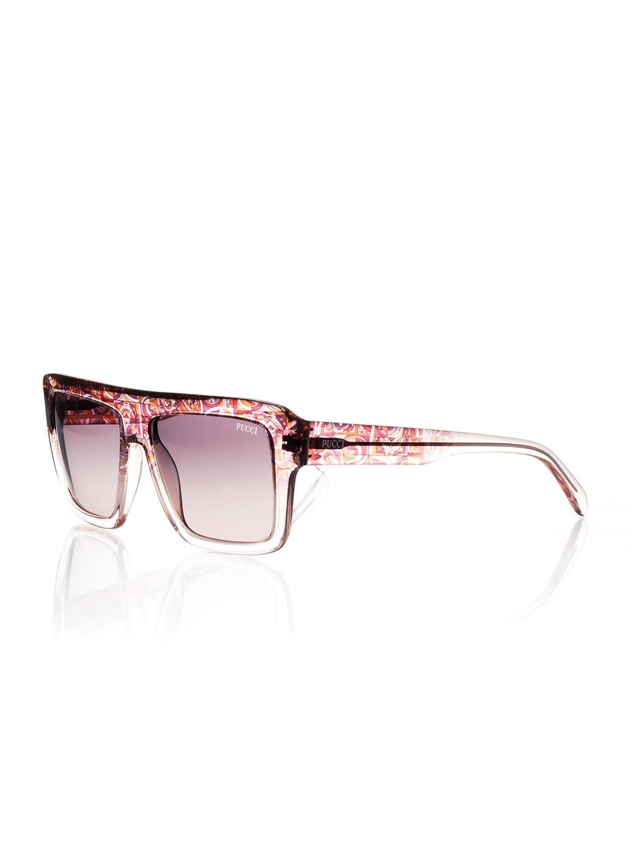 Women's sunglasses ep 0033 44z bone pink organic square square 57-16-140 emilio pucci