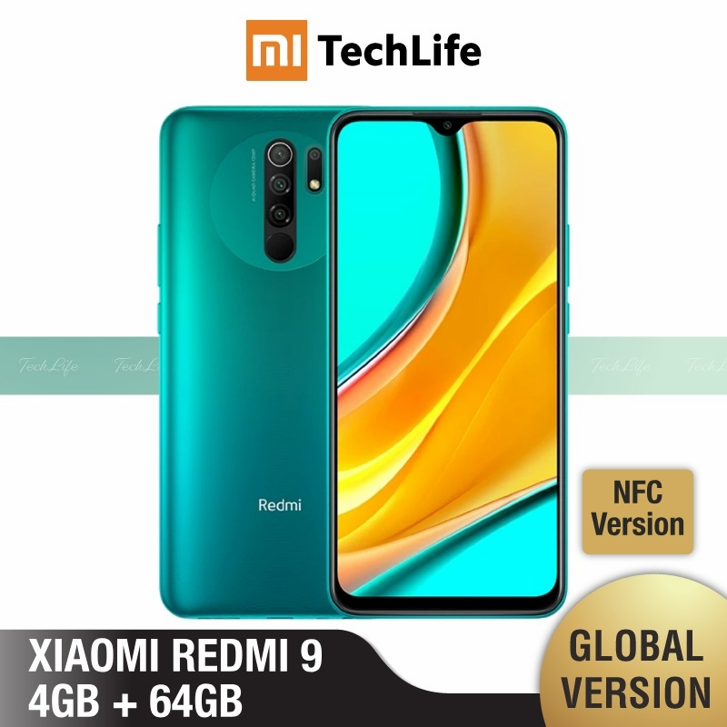 Xiaomi Redmi 9 64GB-ROM 4gbb Adaptive Fast Charge Fingerprint Recognition 13mp/8mp/5mp/2mp