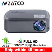 WZATCO CT58 Full HD 1920*1080P soporte AC3 4K Video en línea Android 9,0 Wifi Video inteligente LED Proyector para cine en casa