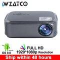 WZATCO CT58 Volle HD 1920*1080P Suport AC3 4K Online Video Android 9 0 Wifi Smart Video LED projektor Proyector Für Heimkino LCD-Projektoren Verbraucherelektronik -
