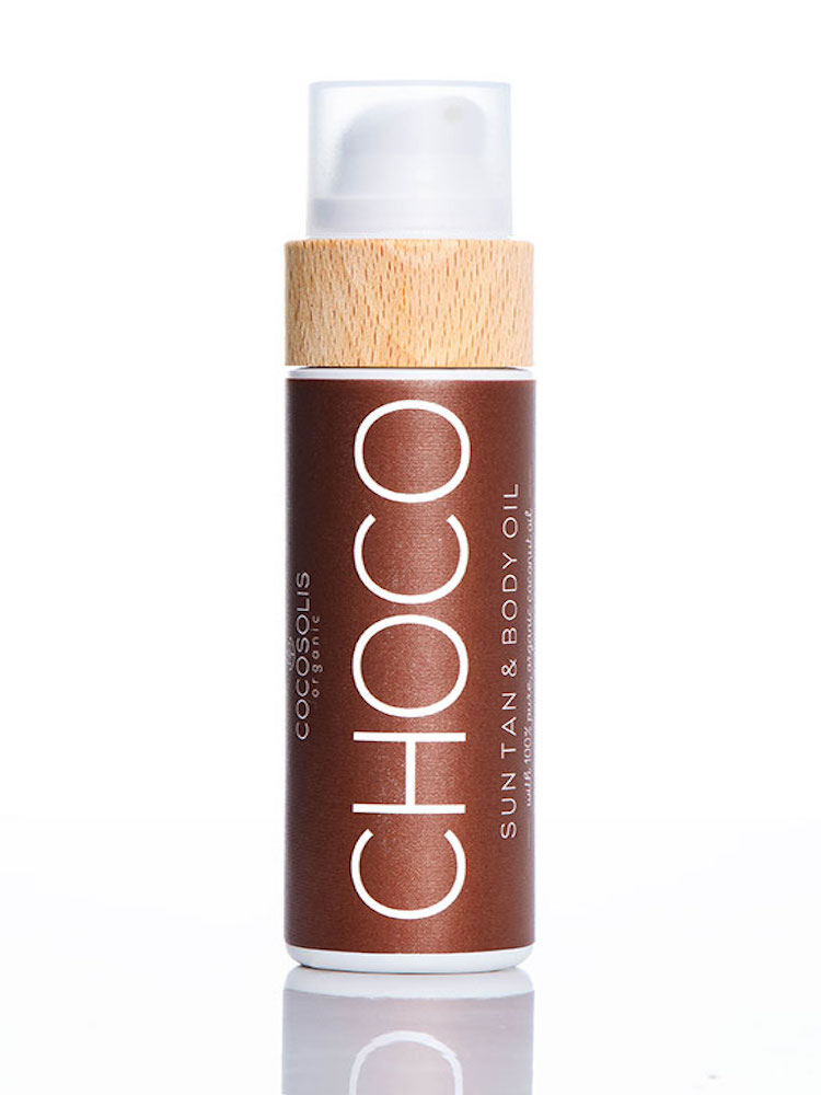 COCOSOLIS CHOCO Sun Tan & Body Oil Organic oil for a chocolate tan, and hydrated and radiant skin every day.
