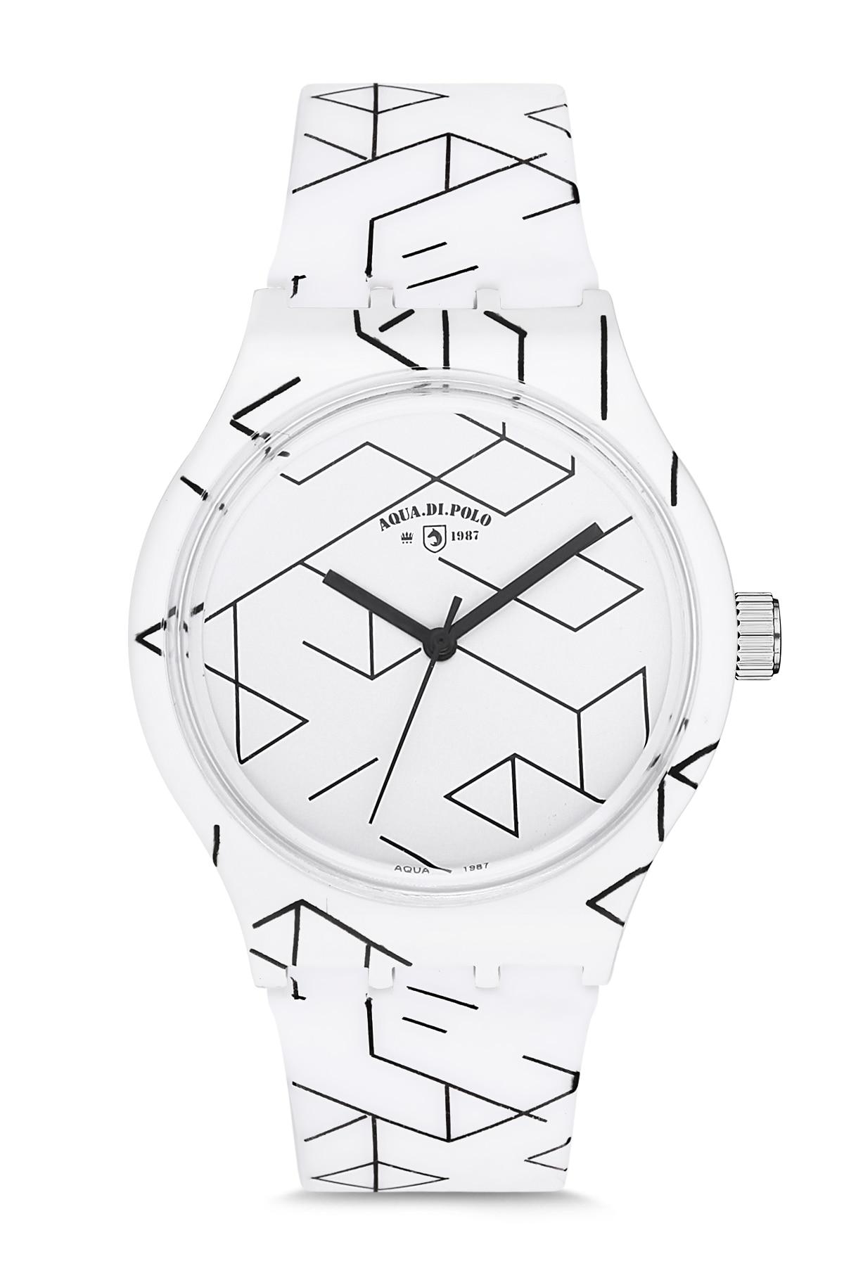 Aqua Di Polo APSV1-A5531-US555 Silicon Unisex Wristwatch Woman Men Fashion Silicone Band Wrist Watch Simple Style Geometric Pat