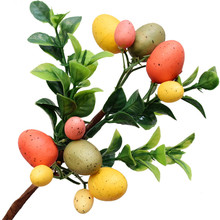 2020 Easter Egg Tree Decor Creative Branch String Home  Plastic  Painting Eggs Party Supplies Desktop Ornaments liviorap happy easter rabbit eggs decorations wooden easter eggs hanging pendant easter party supplies birthday wedding party