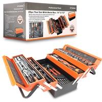SATAGOOD Tool kit 85 items Tools Hand tool kit auto repair tool hand tool car tool tool kit for car auto tool head set tool set