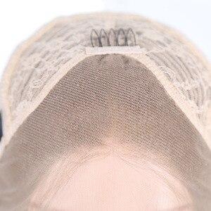 Image 5 - Rongduoyi длинные шелковистые прямые синтетические волосы, передний парик, пепельно блонд, боковая часть, парик для косплея, парики для женщин без клея